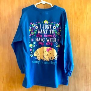 Simply Southern Youth Small long sleeve dog shirt